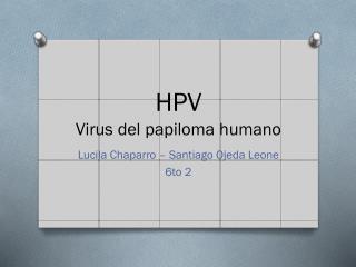 HPV Virus del papiloma humano