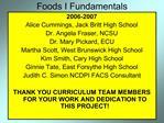 Foods I Fundamentals