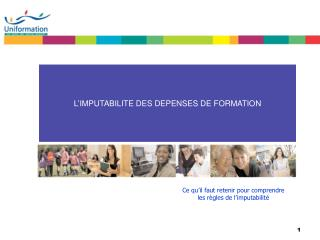 L'IMPUTABILITE DES DEPENSES DE FORMATION