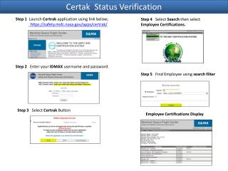 Certak  Status Verification
