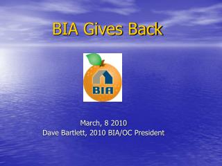 BIA Gives Back