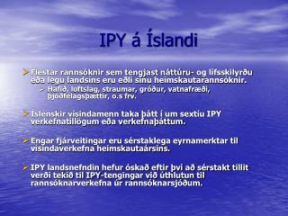 IPY á Íslandi