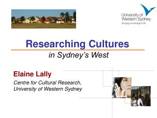 Researching Cultures in Sydney�s West