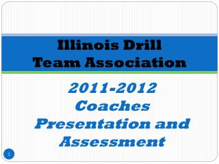 2011-2012 Coaches Presentation and Assessment