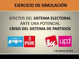 EFECTOS DEL  SISTEMA ELECTORAL ANTE UNA POTENCIAL  CRISIS DEL SISTEMA DE PARTIDOS