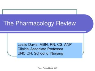 The Pharmacology Review