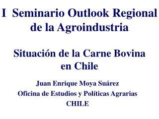 I  Seminario Outlook Regional de la Agroindustria Situación de la Carne Bovina en Chile