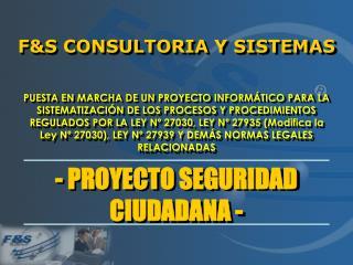 F&S CONSULTORIA Y SISTEMAS