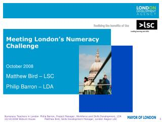 Meeting London�s Numeracy Challenge
