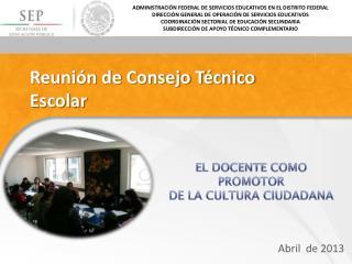 Reunión de Consejo Técnico Escolar