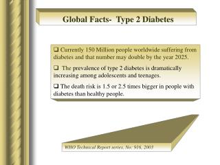 Global Facts-  Type 2 Diabetes