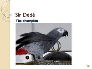 Sir  Dédé