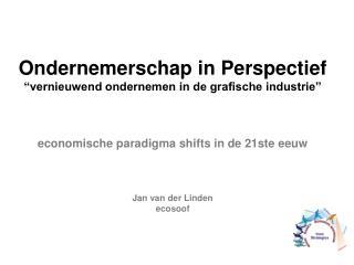 """Ondernemerschap in Perspectief """"vernieuwend ondernemen in de grafische industrie"""""""