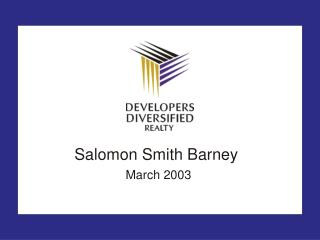 Salomon Smith Barney March 2003
