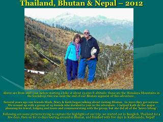 Thailand, Bhutan & Nepal – 2012