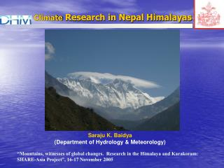 Climate  Research in Nepal Himalayas