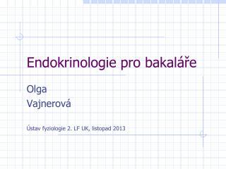 Endokrinologie pro bakaláře