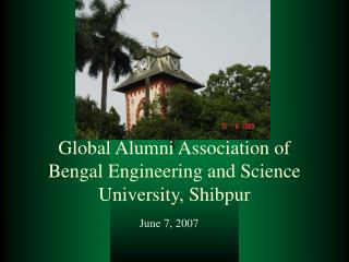 Global Alumni Association of Bengal Engineering and Science University, Shibpur