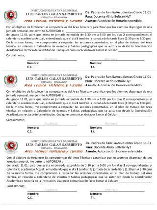De : Padres de Familia/Acudientes Grado 11.01 Para : Docente Alirio Beltrán HyT