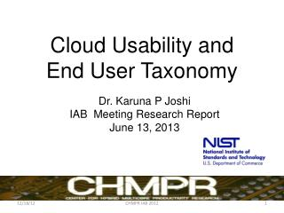 Cloud Usability and  End User Taxonomy