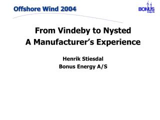 Offshore Wind 2004
