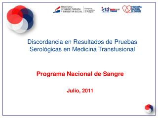 Programa Nacional de Sangre Julio, 2011