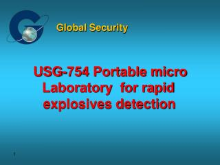 USG-754 Portable micro Laboratory  for rapid  explosives detection