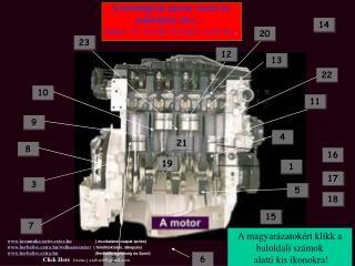 A belsőégésű motor részei és működési elve … Indítás:  F5, Tovább: bal klikk, Leáll: Esc .