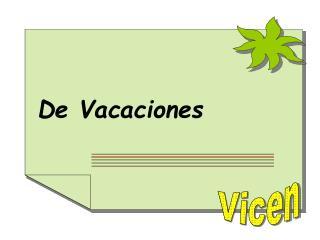 De Vacaciones