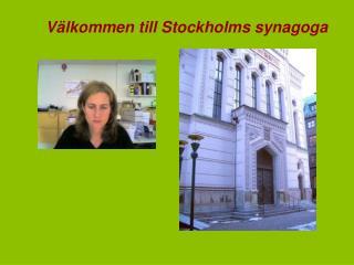 Välkommen till Stockholms synagoga