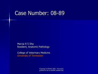 Case Number: 08-89