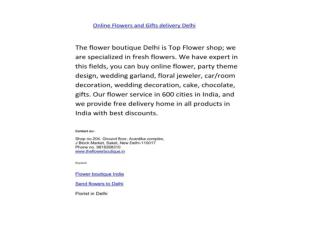 The flower boutique Delhi