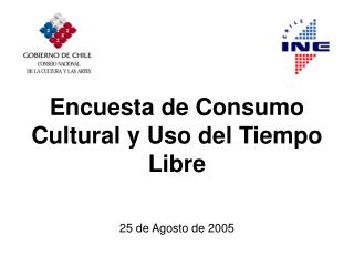 Encuesta de Consumo Cultural y Uso del Tiempo Libre