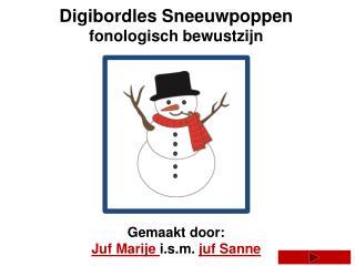 Digibordles Sneeuwpoppen fonologisch bewustzijn