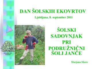 DAN ŠOLSKIH EKOVRTOV