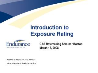 Introduction to  Exposure Rating
