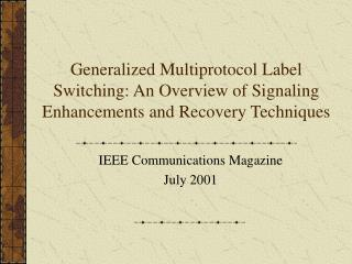 IEEE Communications Magazine July 2001