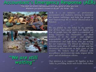 Accountant's Emergency Response (AER)