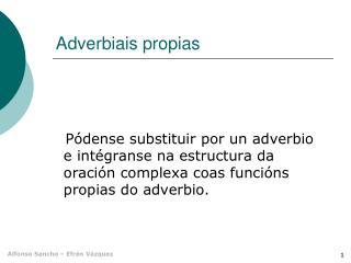 Adverbiais propias