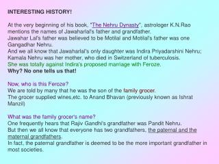Why is it then, no where, we find Rajiv Gandhi's paternal grandfather's name?