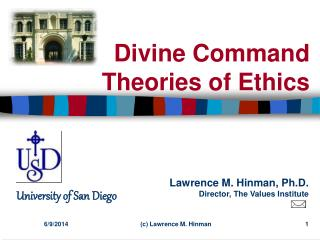 Divine Command Theories of Ethics