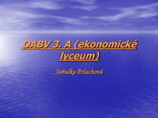 OABV 3. A (ekonomické lyceum)