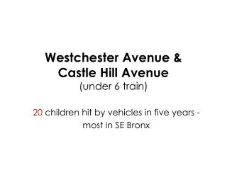 Westchester Avenue & Castle Hill Avenue (under 6 train)