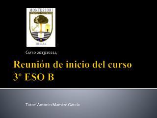 Reunión de inicio del curso 3º ESO B