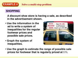 EXAMPLE 4 Solve a multi-step problem