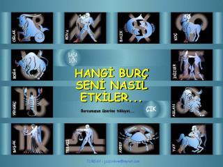 HANGİ BURÇ SENİ NASIL ETKİLER...