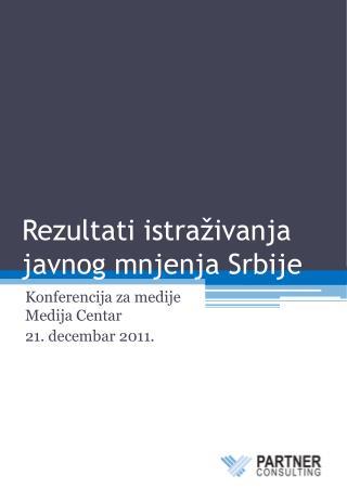 Rezultati istraživanja javnog mnjenja Srbije