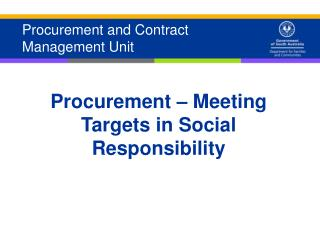 Procurement and Contract Management Unit