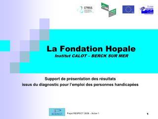La Fondation Hopale Institut CALOT – BERCK SUR MER