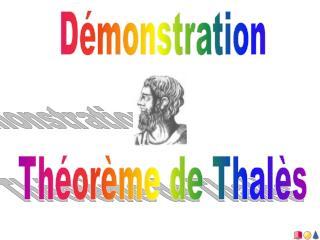 Démonstration Théorème de Thalès